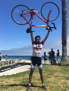Photo: Abhinav at AIDS/LifeCycle™ race sponsored by Covintus.